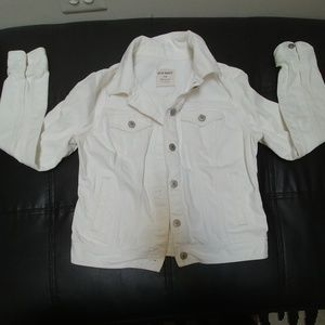 Old Navy White Jean Jacket Size M